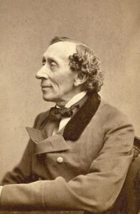 Portrait photograph of Hans Christian Andersen