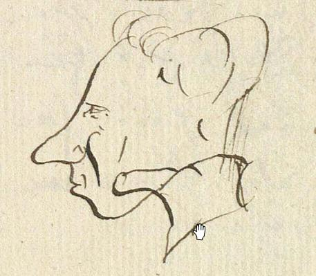 Self portrait by Hans Christian Andersen