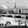 An old photo mashup of Stockholm's Skeppsbron