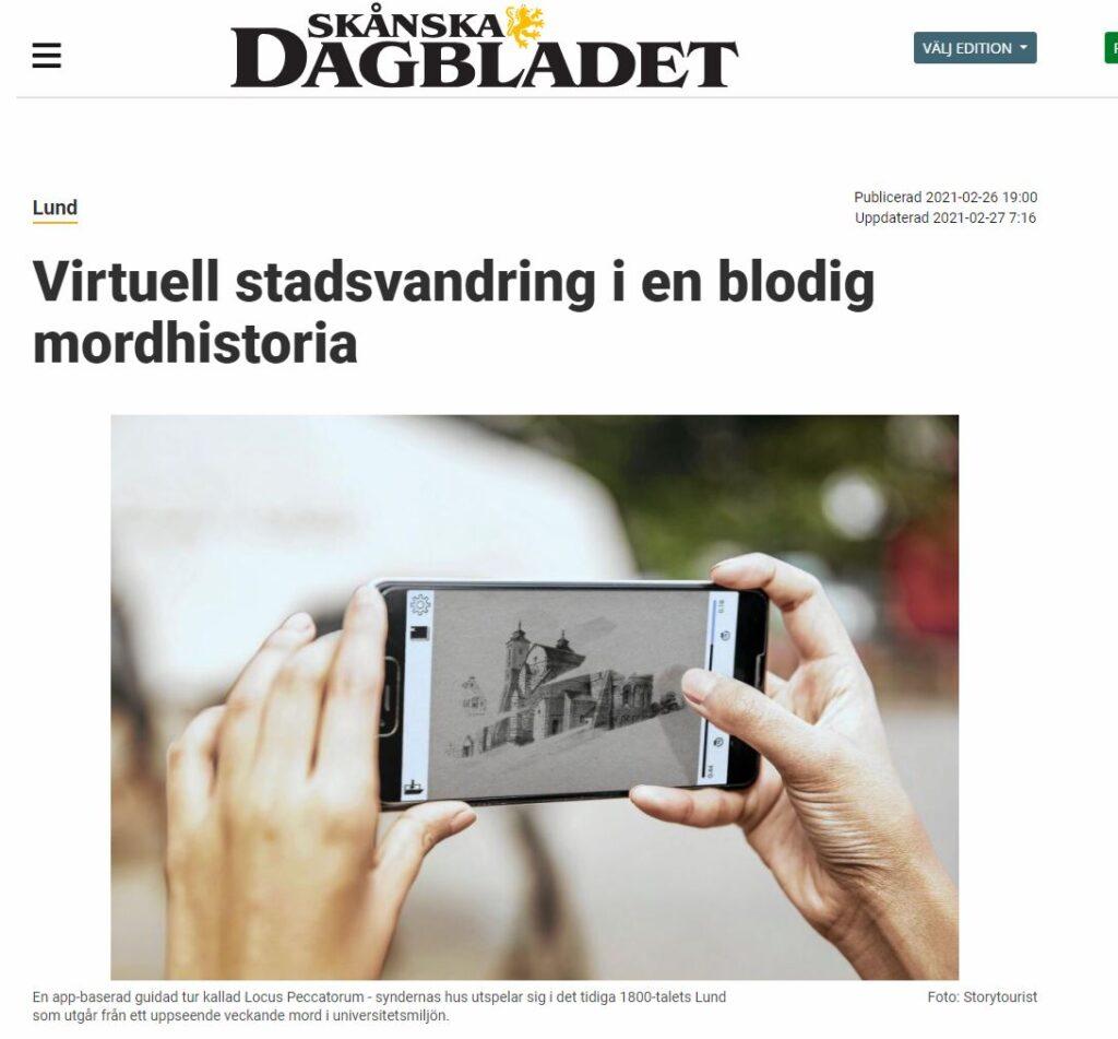 A press clip of Skånska Dagbladet