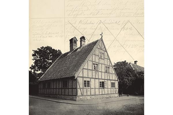 En bild på Locus Peccatorum i svartvitt