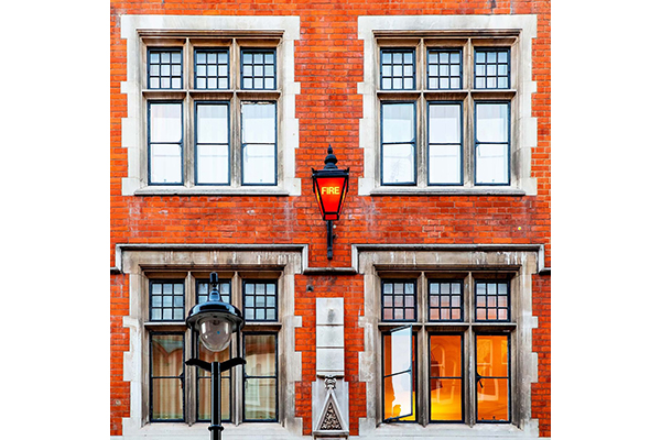 An image of the Chiltern Fire House red brick facade